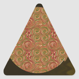 Den lätta mallen tillfogar retur för triangelformat klistermärke