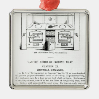 Den Leamington ugnen eller Kitchener Silverfärgad Fyrkantigt Julgransprydnad