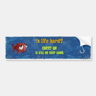 Den ledsna fisken - är liv hårt? bildekal