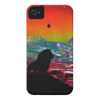 Den lejona solnedgången landskap iPhone 4 Case-Mate fodral