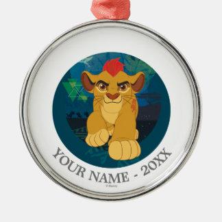 Den lejona vakten   Simba tillfogar ditt namn Julgransprydnad Metall
