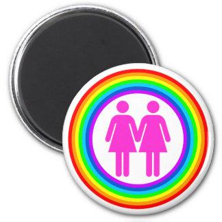Den lesbiska regnbågen kopplar ihop magnet