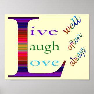 Den levande brunnen, skrattar ofta, kärlek alltid poster
