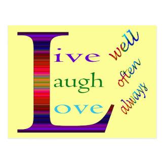 Den levande brunnen, skrattar ofta, kärlek alltid vykort