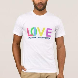 Den levande kärleknågot liknande där är ingen i tee shirt