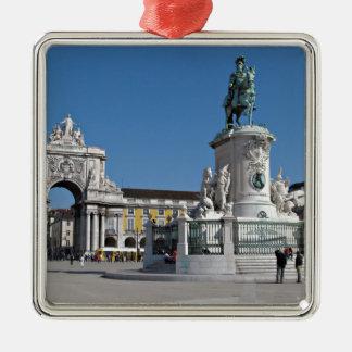 Den Lisbon kommers kvadrerar Julgransprydnad Metall