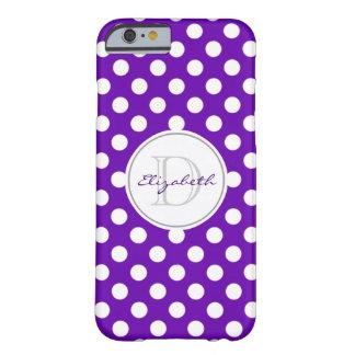 Den livliga purpurfärgade polkaen pricker det barely there iPhone 6 skal