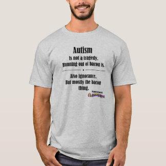 den ljusa autismbacontragedin beklär logotypen tee shirt