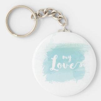 """Den ljusa söten """"för min kärlek"""" - slösa rund nyckelring"""