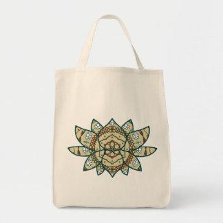 Den ljusa totot för lotusblomma hänger lös tygkasse