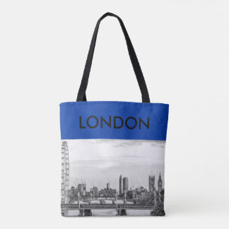Den London stora Ben Thames River kanfastotot Tygkasse