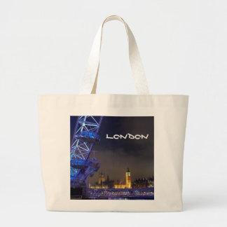 Den London UK natten landskap det London ögat Jumbo Tygkasse