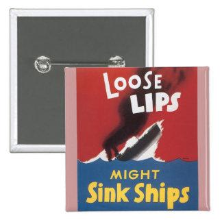 Den lösa läpparstyrkan sjunker frakter standard kanpp fyrkantig 5.1 cm