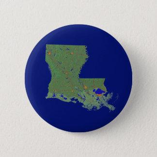 Den Louisiana kartan knäppas Standard Knapp Rund 5.7 Cm