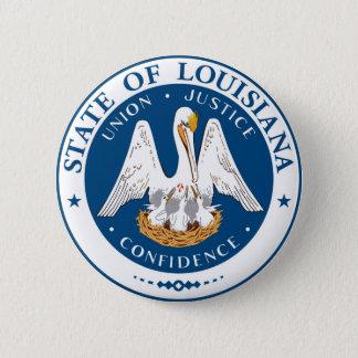 Den Louisiana statlig flagga USA förenade Amerika Standard Knapp Rund 5.7 Cm
