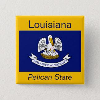 Den Louisianan flagga knäppas Standard Kanpp Fyrkantig 5.1 Cm