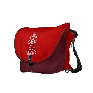 Den lugnaa behållan och kärlek utbildar kurir väska