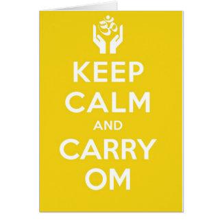 Den lugnaa gula behållan och bär Om Hälsningskort