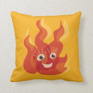 Den lyckliga bränningen avfyrar flammar teckenet kudde