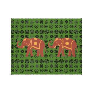 Den lyckliga elefanten kopplar ihop canvastryck