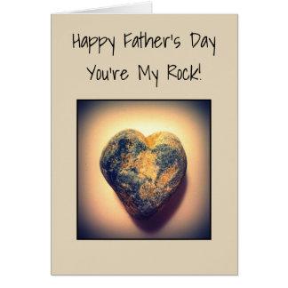 Den lyckliga fars dag är du min sten hälsningskort