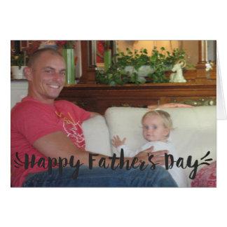 Den lyckliga fars dag skrivar hälsningskort