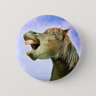 Den lyckliga hästen standard knapp rund 5.7 cm