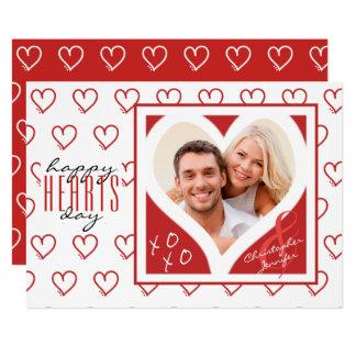 den lyckliga HJÄRTAdagen från kopplar ihop röd | & 12,7 X 17,8 Cm Inbjudningskort