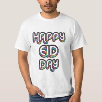 Den lyckliga regnbågen för den Eid daghälsningen T-shirt