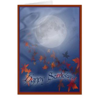 Den lyckliga Samhain månen & skyler Hälsningskort