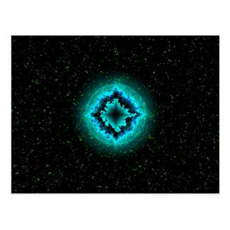 Den lyckliga stjärnan och utmärka med en asterisk vykort