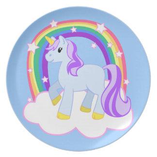 Den Magical nätt unicornen pläterar Tallrik
