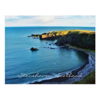 Den magical Stonehavenen i härliga Skottland! Vykort