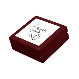 Den Mahatma Gandhi minnessaken boxas Smyckeskrin