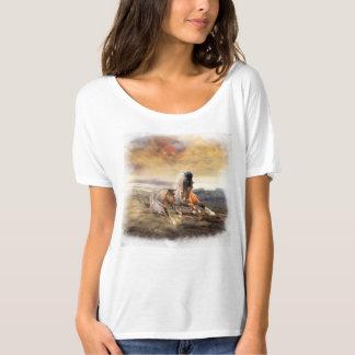 Den målade T-tröja för ökenhästpojkvännen ser Tröjor