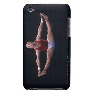 Den Male gymnasten som utför på golv, övar iPod Touch Case