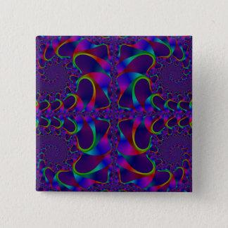 Den Mandelbrot fractalen Pinback knäppas Standard Kanpp Fyrkantig 5.1 Cm