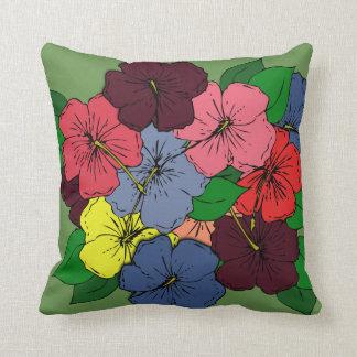 Den mångfärgade hibiskusen blommar #1 kuddar