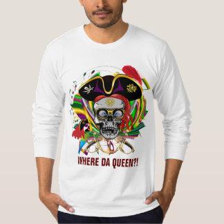 Den Mardi Gras dräktpiraten beklär drottningen på Tee Shirts