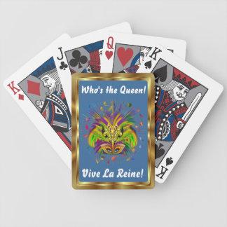 Den Mardi Gras drottningen som stil 3 beskådar, Spelkort