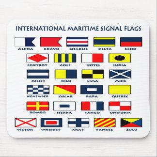 Den maritima flagga signalerar Mousepad Musmatta