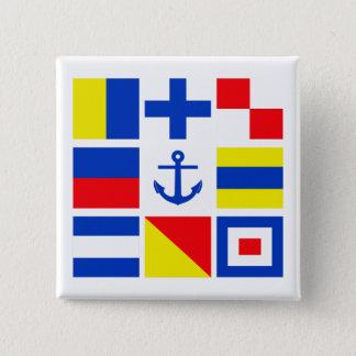 Den maritima flaggor knäppas standard kanpp fyrkantig 5.1 cm