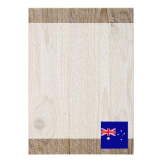 Den märkes- Australien flagga boxas 12,7 X 17,8 Cm Inbjudningskort