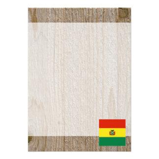 Den märkes- Bolivia flagga boxas 12,7 X 17,8 Cm Inbjudningskort
