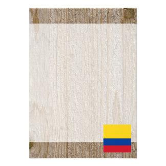Den märkes- Colombia flagga boxas 12,7 X 17,8 Cm Inbjudningskort
