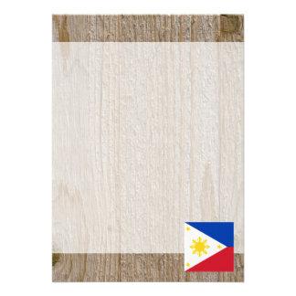 Den märkes- Philippines flagga boxas 12,7 X 17,8 Cm Inbjudningskort