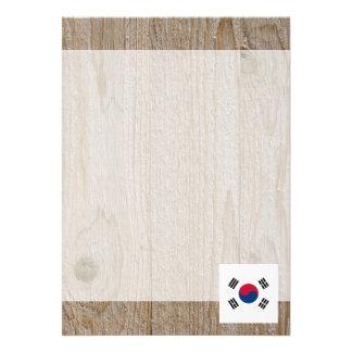 Den märkes- Sydkorea flagga boxas 12,7 X 17,8 Cm Inbjudningskort
