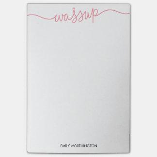 Den märkte Wassup anpassningsbar Postar-it® Post-it Block