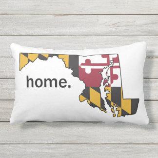 Den Maryland flagga/det statliga hemmet kudder - Utomhuskudde