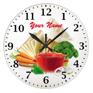 Den matlagningkökPersonalizable väggen tar tid på Stor Rund Klocka